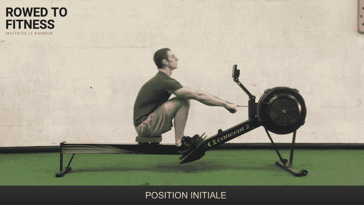 position initiale rameur